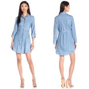 Dresses & Skirts - Rolled Sleeve Buttoned Denim Dress